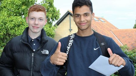 King Alfred School students collected their GCSE results this morning. Credit: King Alfred School