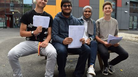 Hampstead School's highest achieving GCSE students.