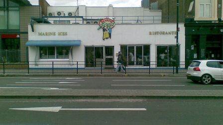 How the old ice cream parlour used to look before it moved down the road
