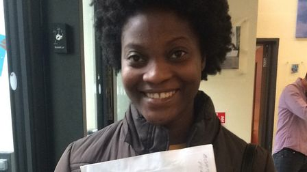 Vera Boateng at the Petchey Academy, before she had opened her A-level results. Picture: Emma Bartho