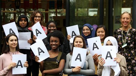 The A level class of 2017 at Hornsey Sixth Form College has achieved a 96 per cent pass rate with 81