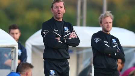 Wingate & Finchley manager Keith Rowland during their match with Harrow Borough (pic: Gavin Ellis/TG
