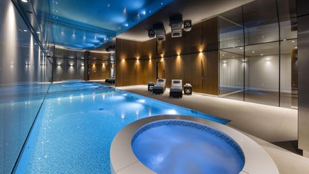 The Highgate home also features a swanky swimming pool, spa and gym for flexing your muscles