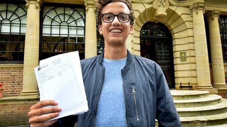 A level results at UCS. James Scott (AAA) is the first student from UCS to be accepted to study Art