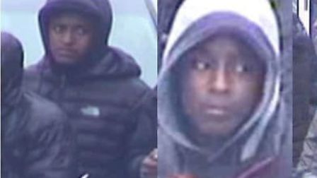 Four of the people police want to speak to, following the violent disorder in Hackney on July 28