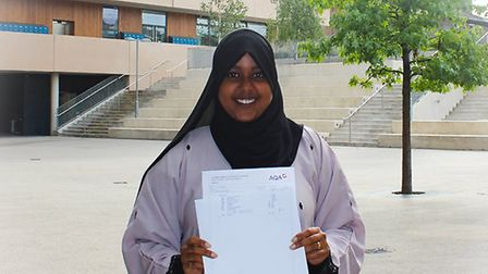 Sabirin Abdirahman gained 2A*s, 6As and B and can't wait to start sixth form Picture: Emma Hartill