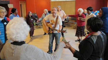 Alzheimer's Society are launching a new programme at Alexandra Palace for people with dementia Pictu