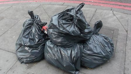 Rubbish bags seen outside Viva in Dalston. Picture: Hackney Council