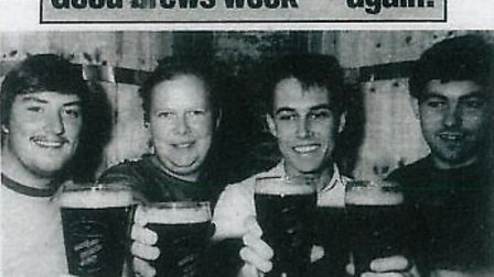 Pitfield Brewery was featured on the front page of the Gazette on August 14, 1987, when it was grant