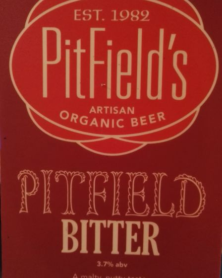 The Pitfield Bitter branding. Picture: Pitfield Brewery