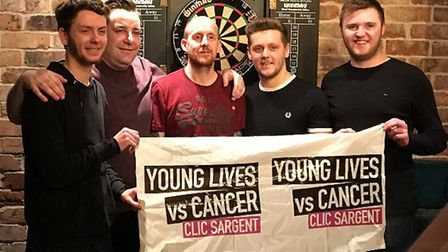 A charity darts competition was held at the Joseph Conrad Wetherspoons in Lowestoft. Picture: Courte