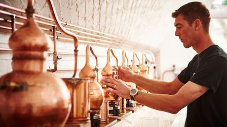 Mark Marmont at the 58 Gin distillery in Hackney Downs