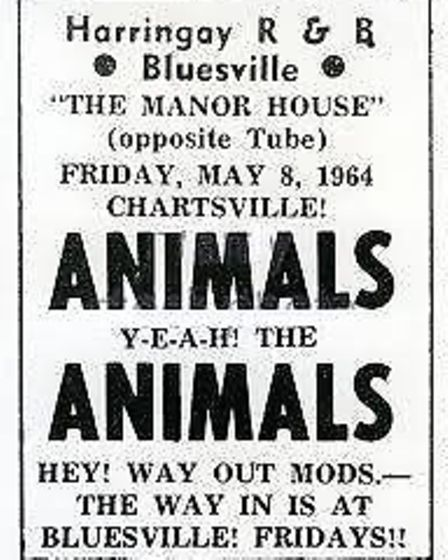 The Animals performed in 1964.