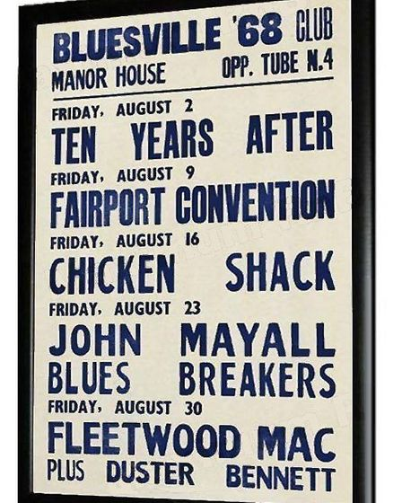 Fairport Convention and newcomers Fleetwood Mac played in 1968.