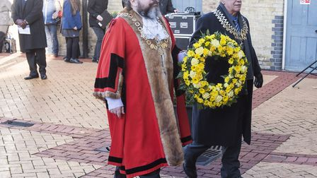 Chairman of Waveney District Council Cllr Frank Mortimer and the Deputy Mayor of Lowestoft Peter Kni