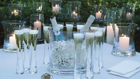 LSA International Moya Grand Design champagne serving set, 12 glasses, 250, available from Black By