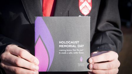 Wreath-laying ceremony to commemorate Holocaust Memorial Day in Lowestoft. Picture: Nick Butcher