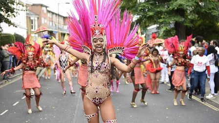 Dancers from the Paraiso School of Samba at Hackney Carnival. Picture: Hackney Council