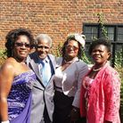 Jerry with his three daughters (from left) Claudette, Evamae and Angela Picture: Roger Beale