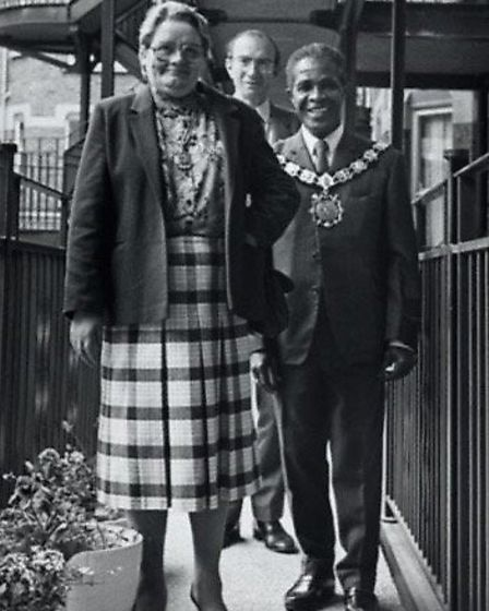 Jerry Williams as mayor with wife Eileen Picture: Roger Beale