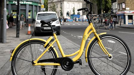 The bikes are being rolled out across Hackney. Picture: Ofo