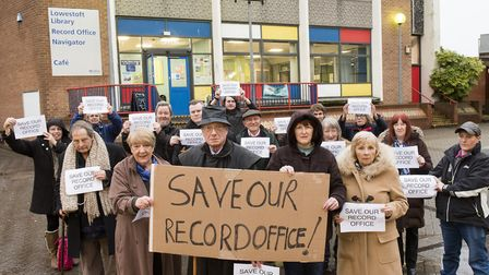 The SORO group campaigning to save Lowestoft Record Office. Picture: Nick Butcher