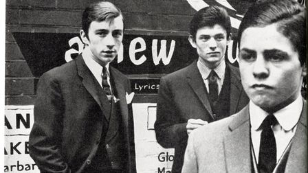 Miki Simmonds (left), Peter Sugar and Mark Feld, later Marc Bolan, in a photo from 1962 supplied by