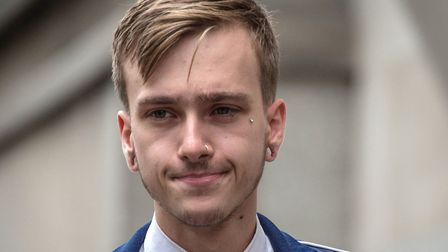 Former courier Charlie Alliston outside the Old Bailey in August. Picture: Lauren Hurley/PA Wire