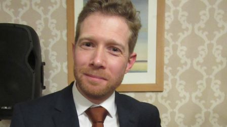 Zeb Soanes at the meeting of the Rotary Club of Lowestoft East Point. Picture: Annette Stringer