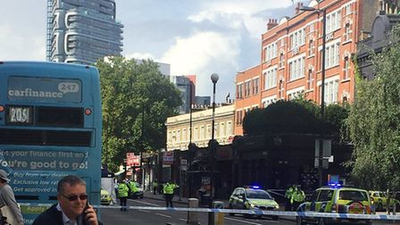The scene of the crash in City Road. Picture: @Nav_Singh74
