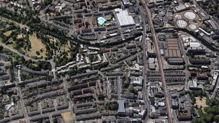 An aerial view of the London Fields area. Picture: Google