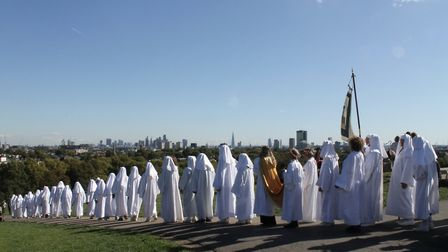 Druids on Primrose Hill to mark the autumn equinox. Picture: Emily Hislop