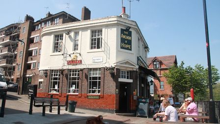 One man who was attacked cycling along the canal in August called for help at the Anchor and Hope. P