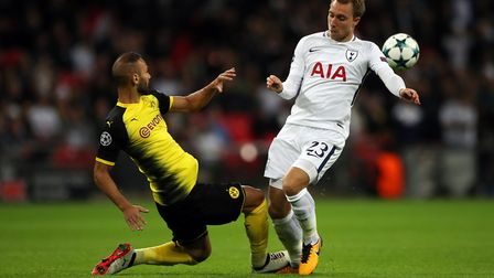 Tottenham Hotspur's Christian Eriksen in action during the UEFA Champions League, Group H match at W