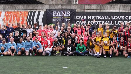 A group picture of last year's Playing for Kicks participants (Pic: Aneesha Dewshi)