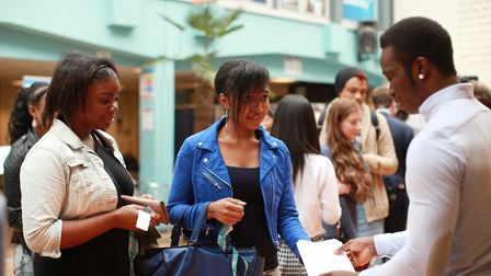Students collect their A-levels results at Bsix College.