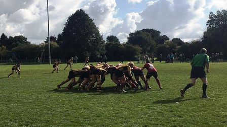Action from Hampstead's clash with Hitchin