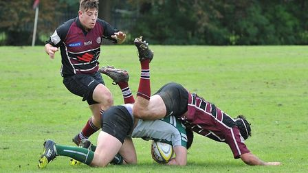 Action from the clash between UCS Old Boys and Hendon (pic Nick Cook)
