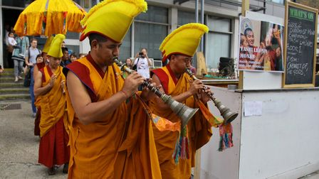 Buddhist monks bless the Hive in its first week of opening
