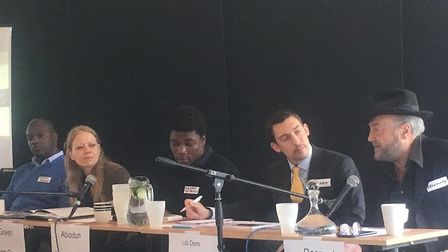 Candidates for London Mayor take part in a hustings last year at the Hive