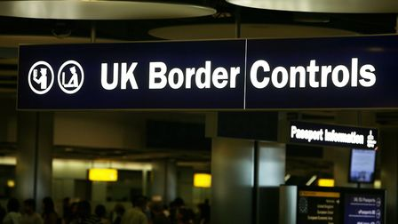 Border Control at London's Heathrow Airport. Picture: PA