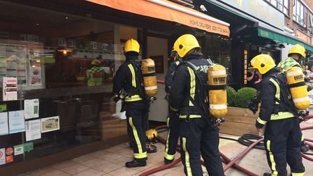 A chef from the restaurant described hearing a loud bang and the building shaking. Picture: JON KING