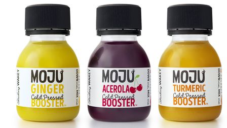 Moju's shots of turmeric, ginger and cherry
