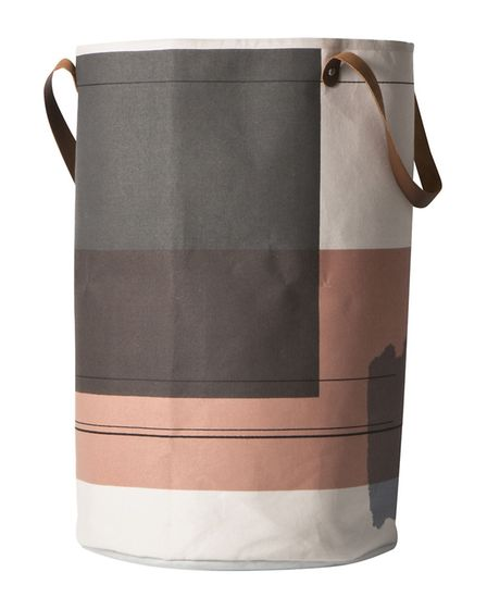 Ferm Living Laundry Basket, Colour Block, 59, available from Amara.