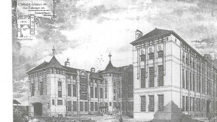 Edwin O Sachs' drawing of the Shannon Factory he designed in Tyssen Street, which is now known as Sp
