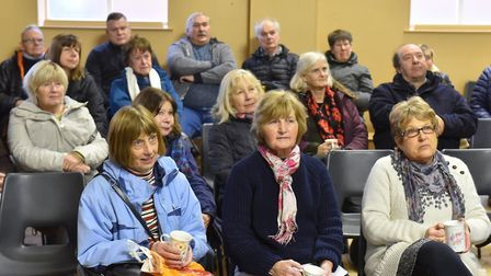 Fascinated locals hear a presentation about 'The Grit' project. Picture: Nick Butcher
