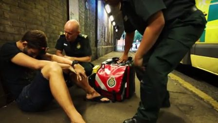 The London Ambulance Service has launched a campaign encouraging people to drink responsibly