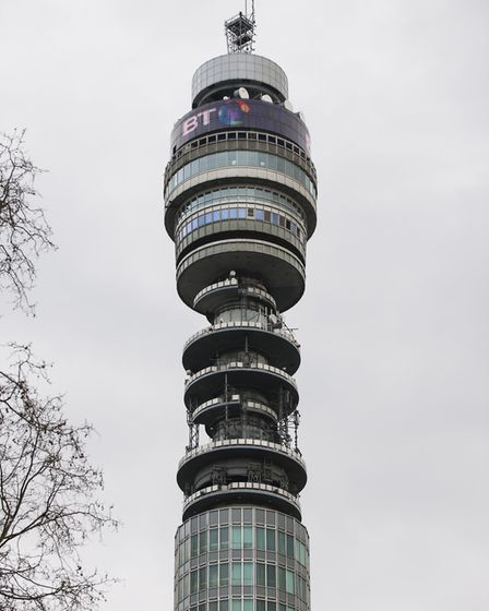 The London skyline's infamous BT Tower