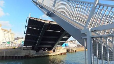 Highways England is completing maintenance work on the lifting mechanism of Bascule Bridge. Picture: