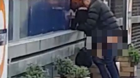 This couple were filmed apparently having sex on platform 1 at Hackney Downs station on Saturday. Pi
